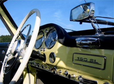 Mercedes 190 SL, dashboard